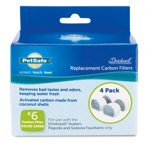Drinkwell Replacement Activated Carbon Filters 4ct.