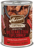 Merrick Chunky Grain-Free Big Texas Steak Tips Dinner