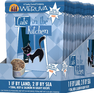 Weruva Cats in the Kitchen 1 If By Land, 2 If By Sea Tuna, Beef & Salmon Pouch
