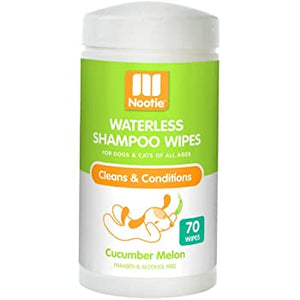 Nooties Waterless Shampoo Wipes Cucumber Melon 70 ct.