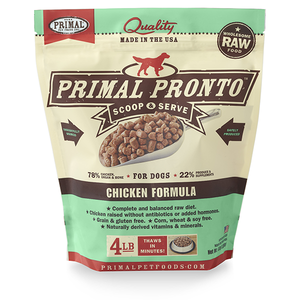 Primal Pronto Dog Raw Chicken 4lbs.