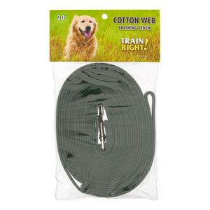 Coastal Train Right! Cotton Web Dog Training Leash