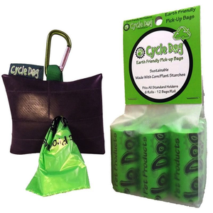 Cycle Dog Park Pouch Combo 6 Green Poop Bags