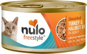 Nulo Cat Grain-Free Shredded Turkey & Halibut in Gravy