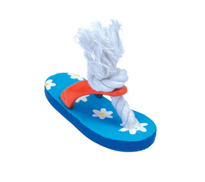 Coastal Lil Pals Latex & Rope Flower Flip Flop