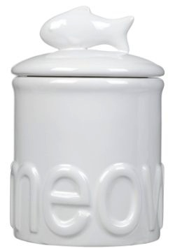 Creature Comforts Meow Treat Jar With Fish Handle