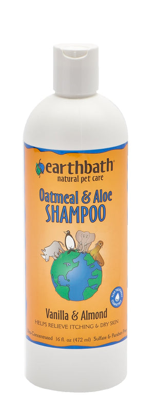 Earthbath Oatmeal & Aloe Vanilla & Almond Shampoo 16 oz