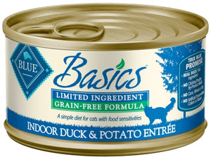Blue Buffalo Basics Limited Ingredient Grain-Free Indoor Duck & Potato Entree