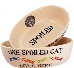 "Petrageous One Spoiled Cat 6.5"" Oval Cat, Natural Multi"