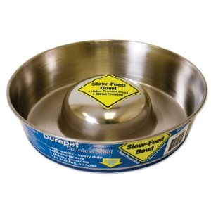 Durapet Stainless Steel Slow Feed Bowl  Small