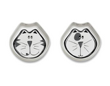 Ore Bowl Gift Set Cosmic Kitty Black & Grey