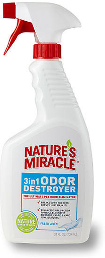 Natures Miracle 3in1 Odor Linen Scent 24 oz.