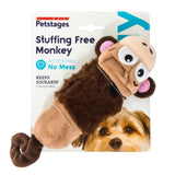 Pet Stages Stuffing Free Lil Squeak Mini Monkey