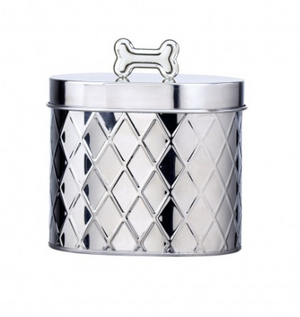 Global Amici Oval Stainless Steel Treat Canister