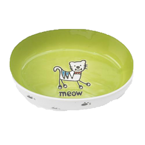 Petrageous Silly Kitty Oval Bowl