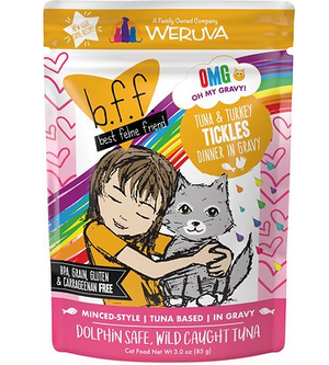 Weruva BFF OMG Tuna & Turkey Tickles Pouch