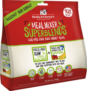 Stella & Chewy's Freeze-Dried Meal Mixers SuperBlends Duck Recipe