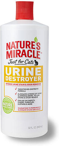 Natures Miracle Urine Destroyer Just for Cats 32 oz.