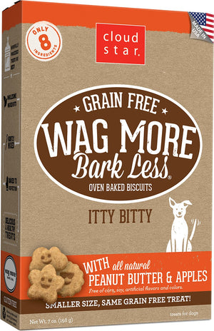 Cloudstar Wag More Bark Less Grain Free Peanut Butter & Apples