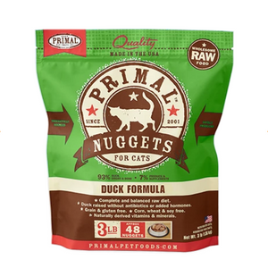 Primal Cat Raw Duck Nuggets 3lbs.