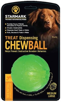 Starmark Treat Dispensing Chew Ball Medium