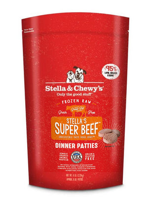 Stella & Chewy's Raw Frozen Stella's Super Beef Dinner Patties