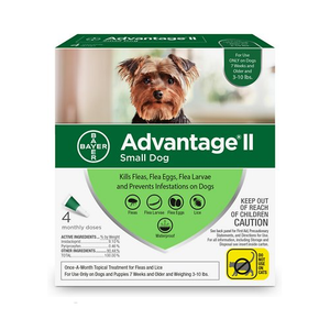 Advantage II - 4 Pack Small - Up to 10 Lbs