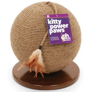 "Kitty Power Paws Sphere Scratching Post 13"" H"