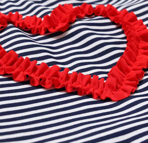 HEARTS AND STRIPES SWIMSUIT