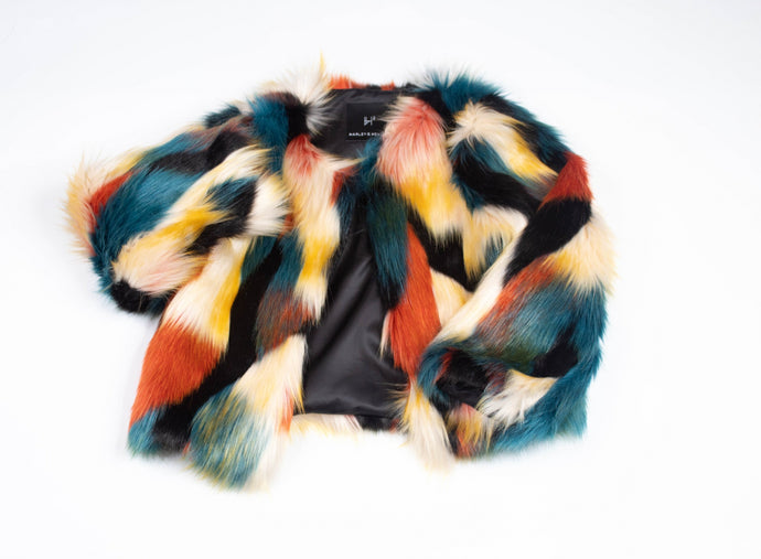 FAUX FUR MULTI COAT