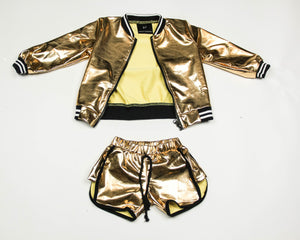 GOLDEN GIRL SHORT SET