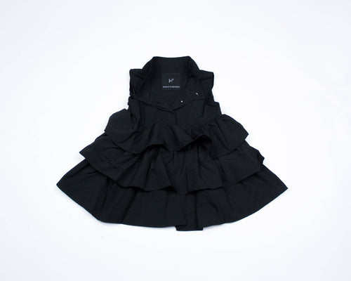 SLEEVELESS RUFFLE DRESS