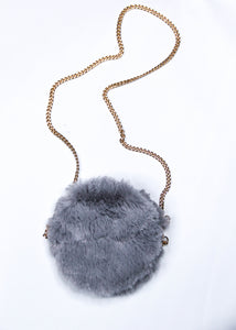 FAUX FUR CROSSBODY PURSE
