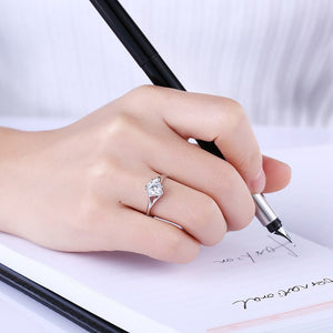 925 Sterling Silver Ring Fashion trend ring personality creative