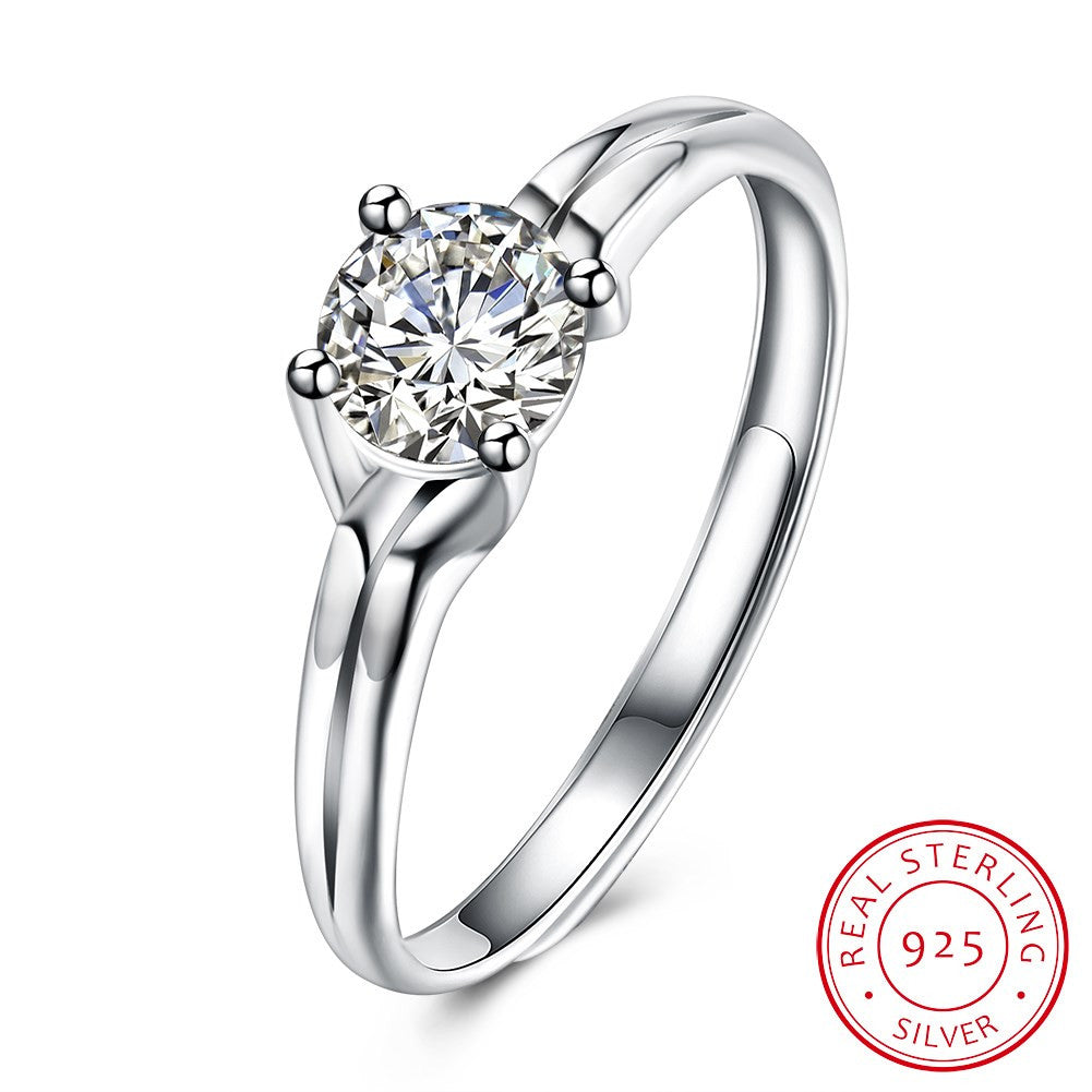 925 Sterling Silver Ring Fashion trend ring Korean romantic