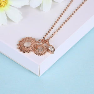 925 Sterling Silver Necklace beautiful sunflower pendant fashion jewelry