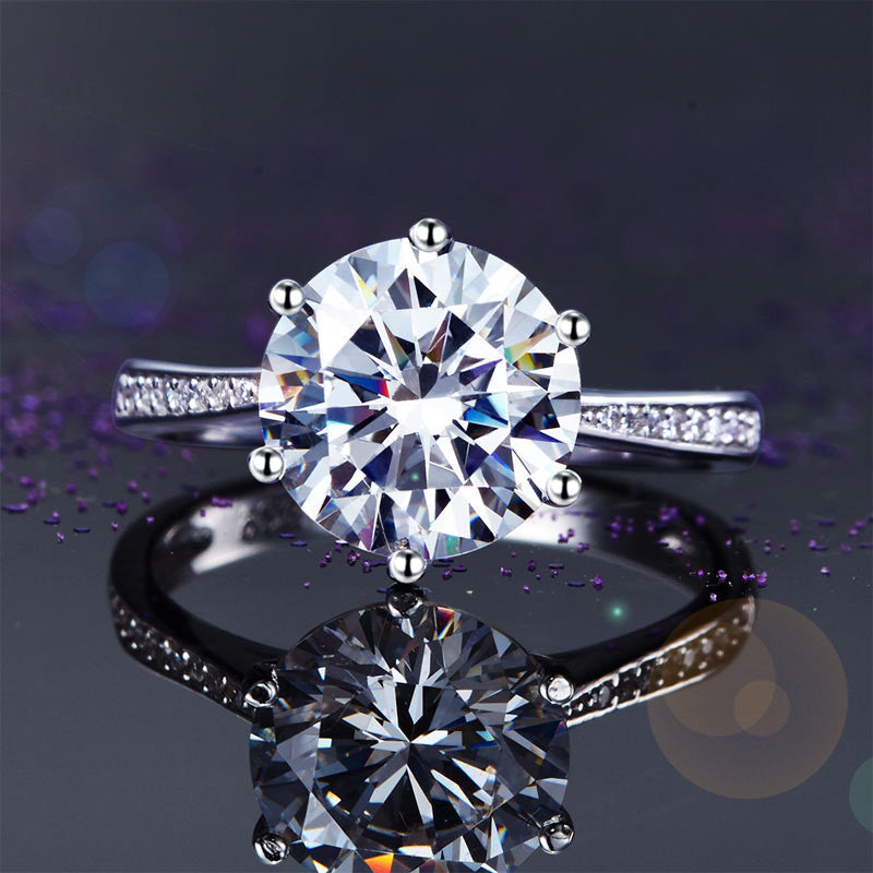 925 Sterling Silver Wedding Engagement Ring 3 Carat Simulated Diamond Jewelry