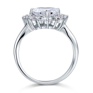 2.5 Carat Heart Cut Simulated Diamond 925 Sterling Silver Wedding Promise Engagement Ring
