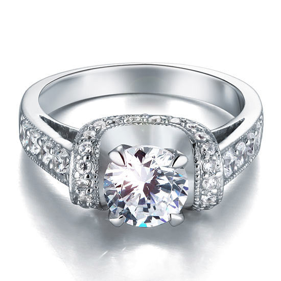 1.25 Carat Simulated Diamond 925 Sterling Silver Wedding Engagement Ring