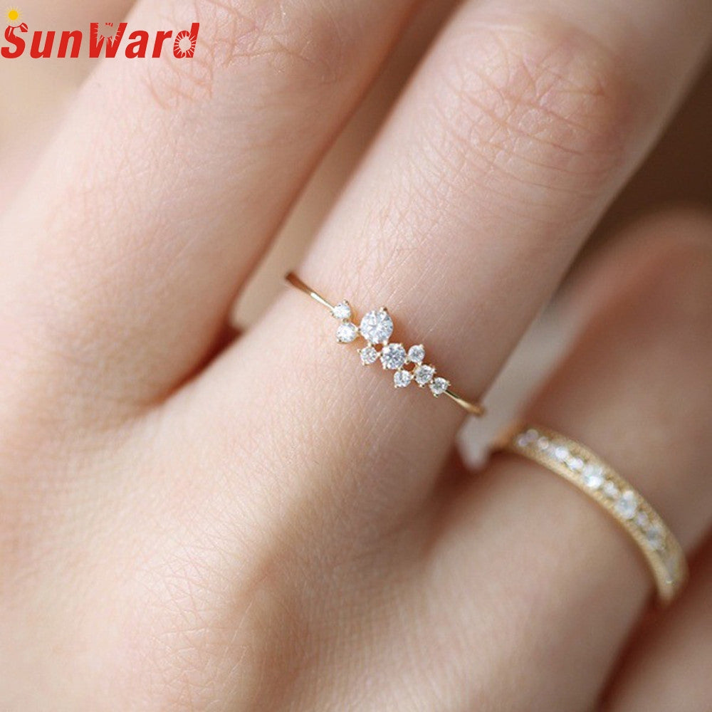 OTOKY 1Pcs Fashion Crystal  Simple Ring Zirconia Simple Rings for Women Anti Allergies For Gift Dropshipping Mar10