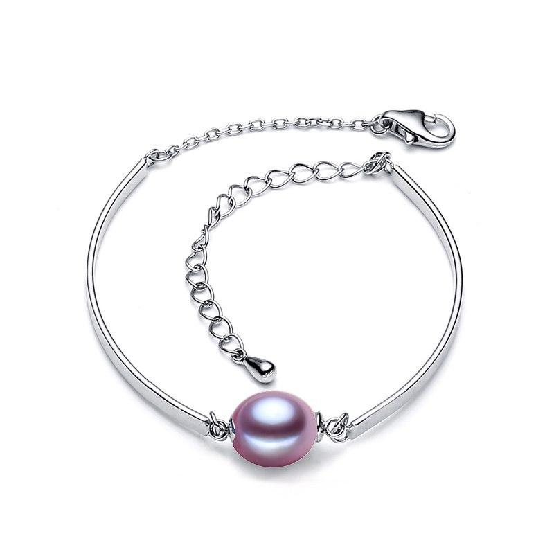 Charm bracelet,natural Pearl Jewelry,fashion brand bracelet women,purple beads bracelet female,chain link bracelet