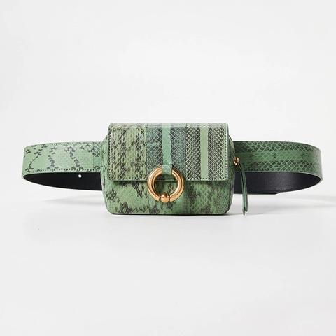 The Poppy Belt Bag - Moss Green