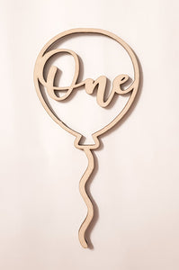 Cake Topper - Balloon One - Peach n Pine