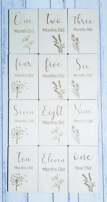 Milestone Cards - Rectangle - Peach n Pine
