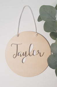 Name Plaque - Round