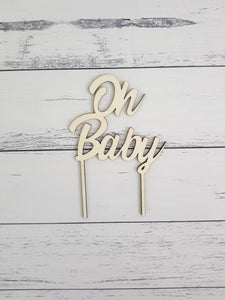 Cake Topper - Custom Text - Peach n Pine