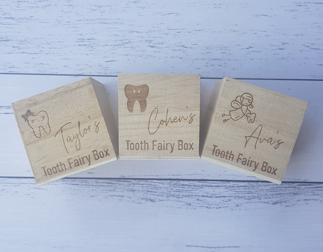 Tooth Fairy Box - Personalised - Peach n Pine