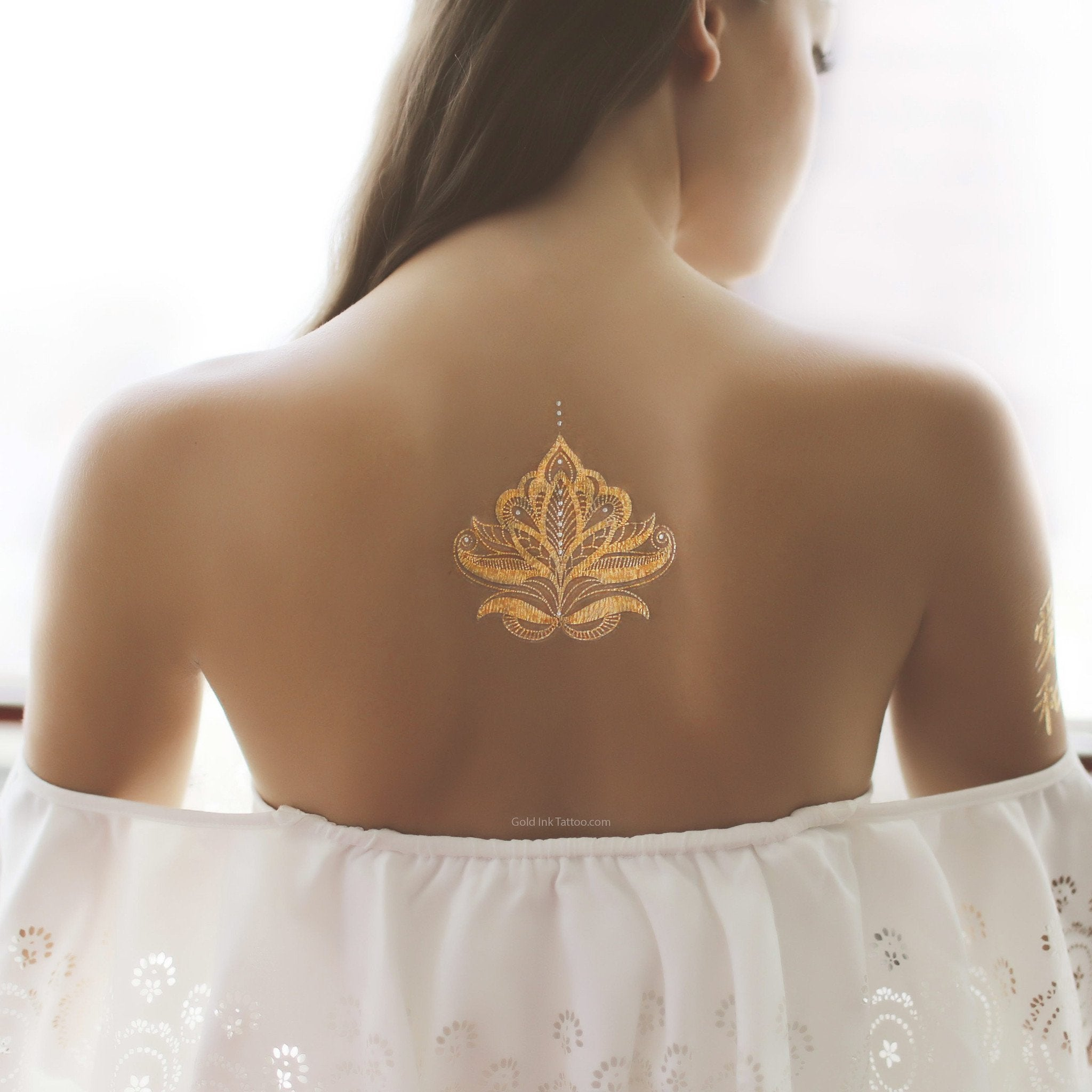 2 PACK Gold and Silver Henna Design