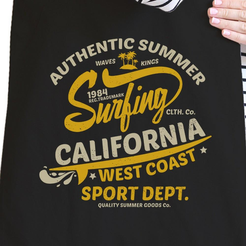 Authentic Summer Surfing California Black Canvas Bags
