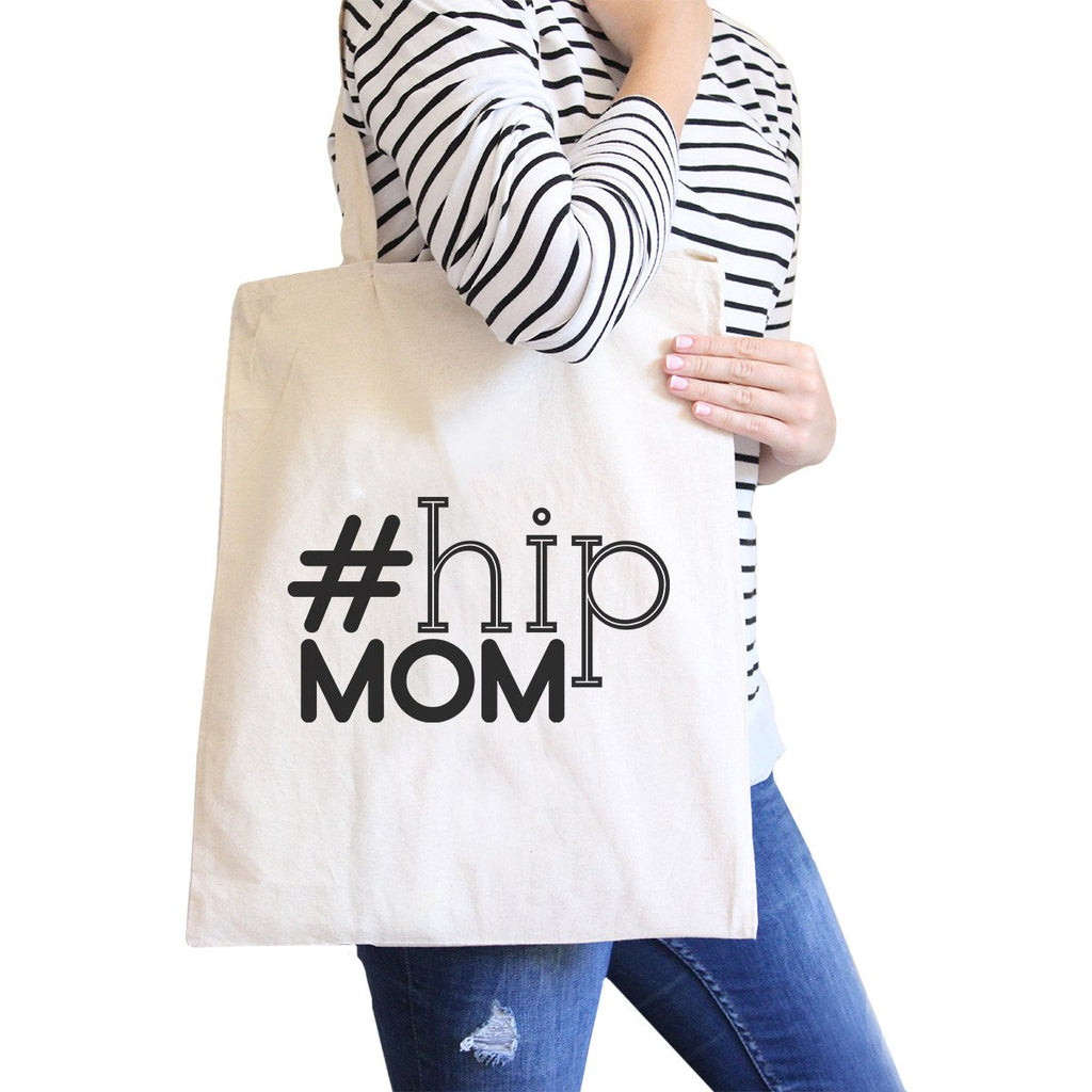 Hip Mom Natural Canvas Bag Washable Cute Gift Ideas For Baby Shower